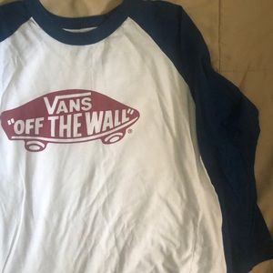 Boys Vans 3/4 sleeve shirt